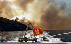 На курортах Черногории жарко