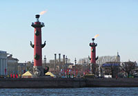 Ростральные колонны в Санкт-Петербурге